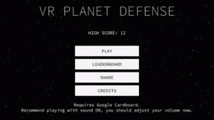 VR Planet Defense for Google Cardboard