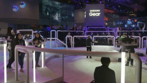 Samsung's Gear VR Booth at CES Revealed