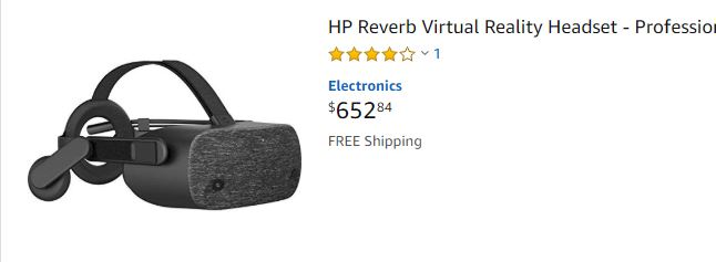 HP Reverb in stock