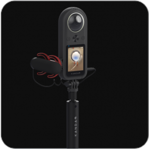 Kandao Qoocam 8K has a 3.5mm mic input jack, and a frame with a cold shoe for a microphone