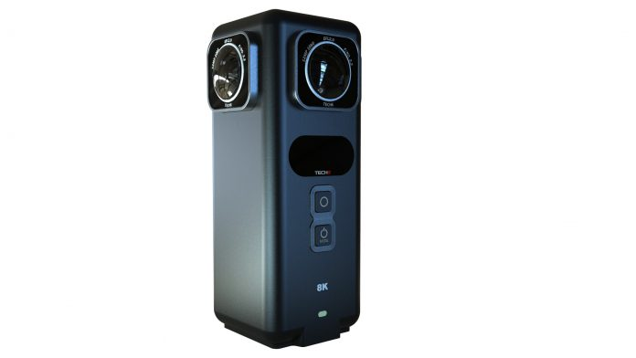 Teche 360 Anywhere is an 8K 360 camera with realtime stitching