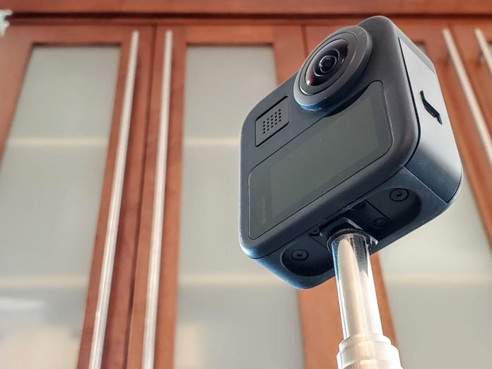 GoPro with permanent 1/4-20 tripod connector