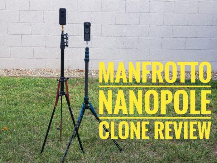 Fosoto light stand converts to a monopod (Manfrotto Nanopole Carbon Fiber clone review)