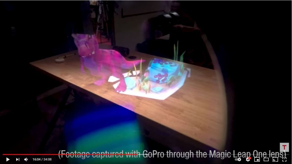 Magic Leap's AR view is cutoff by the limited field of view.