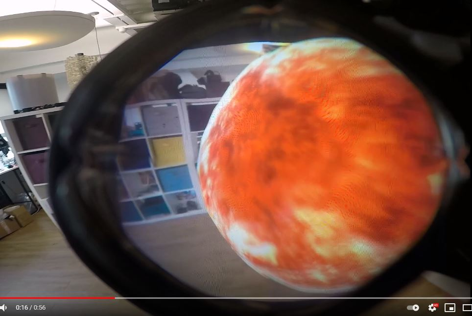 Lynx can show AR objects anywhere in the frame