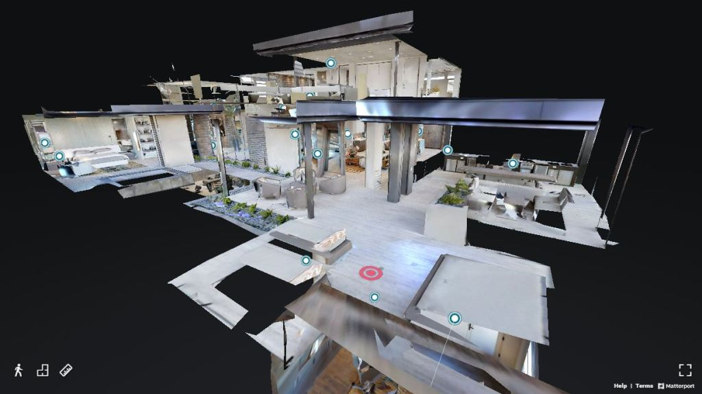 Matterport dollhouse view