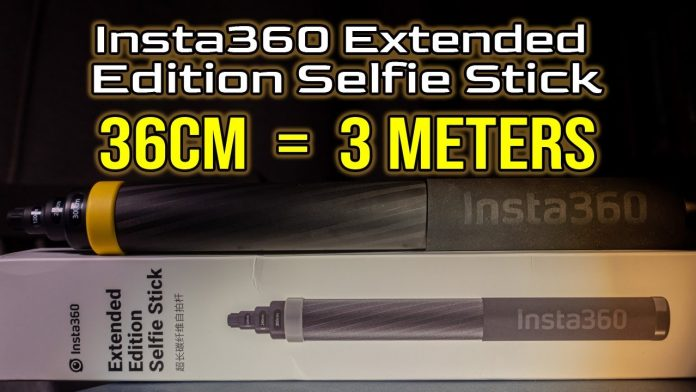 Insta360 creates new compact 3m selfie stick (collapses to one foot)
