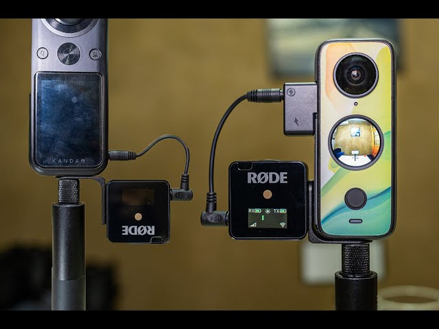 Invisible microphone mount for Insta360 One X2 and other 360 cameras