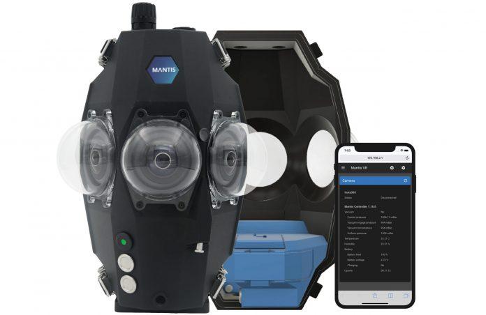 Mantis: World's first underwater housing for Insta360 Pro 2