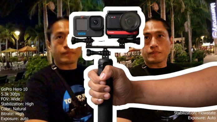 GoPro Hero 10 low light vs. Insta360 One R 1 inch (Honest Review)