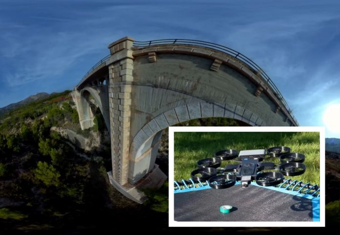 This 360 drone created a 3D photogrammetry model of this bridge in 30 minutes ON SITE (watch the demo)